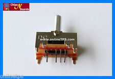 CB0437-4Pc DPDT Switch-Center Off-Rocker-Spring Action-PCB Mount for Robotics