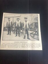 c5-2 Ephemera 1915 Ww1 Newspaper Picture British Soldiers Territorials Artillery