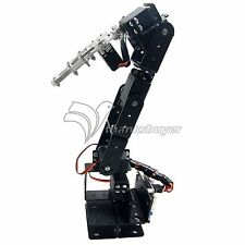 Robot 6DOF Aluminium Clamp Claw Mount kit Robotic Arm w/Metal Servo Horn
