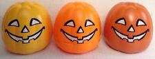 "Playmobil Pumpkins 4""x4""x4"" (SET of 3) -  Fillable or Decoration  ""NEW"""