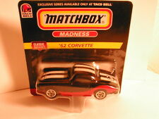 Matchbox 1999 TACO BELL promotion `62 CORVETTE black with red & white short card