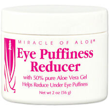 NEW Miracle Of Aloe Vera Under Eye Puffiness And Saggy Skin Reducer Gel 2 Oz Jar