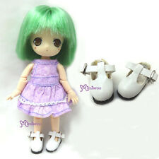 Mimi Collection Hujoo Baby Obitsu 11cm Body Bjd School Maryjane Doll Shoes WHITE