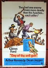 "Day of the Evil Gun (Glenn Ford) 41""x27"" Original U.S. Movie Poster 60s"