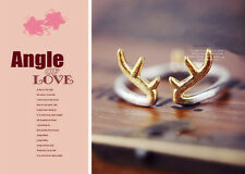 30% Siver Platinum plated brass Free Size Knuckle Ring Stackable Antlers ring