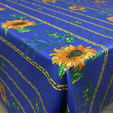 "60"" x 60"" Square COATED Provence Tablecloth - Sunflower & Lavender Blue"