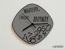 Whatever I'm Late Anyway / Oval Grey - Wall Clock
