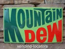 New Mountain Dew 10 X17 Sign Bottle Tin YaHoo Vintage Advertising Metal Pop Soda