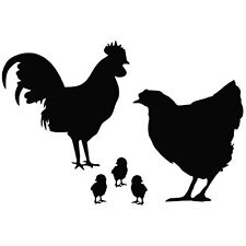 Chicken Family die cut vinyl decal sticker for car window laptop