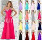 2016 Long Formal Evening Ball Gown Party Prom Bridesmaid Dress Stock Size 6-18