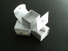 Pack of 6 Silver Wedding Favour Snap Boxes
