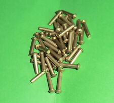 50 Messing Halbrundnieten  Vollnieten Nieten DIN 660 Halbrundkopf 2x10