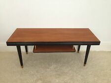 Vintage 1950's Mid Century Design Teak Coffee Table With Shelf.