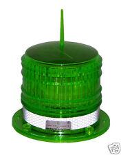 S8LF 2NM GREEN IP67 SOLAR LED FLASHING Marine Dock Barge Safety Beacon Light