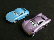 Lot of 2 Disney Pixar Cars Holly Holley Shiftwell & Sally Carrera 1/55 Diecast