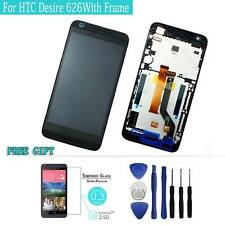 For HTC Desire 626 Black LCD Display Touch Screen Digitizer Assembly  and Frame
