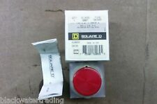 "NEW SQUARE D RED 1 3/8"" MUSHROOM PUSH BUTTON SKR4R (C#2)"