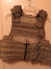 MSA Paraclete RAV Vest with soft armor Size large  Coyote color