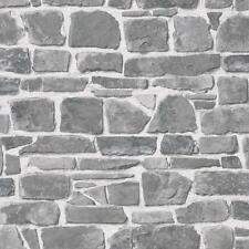 RASCH BRICK WALL FAUX EFFECT REALISTIC MURAL TEXTURE VINYL WALLPAPER GREY