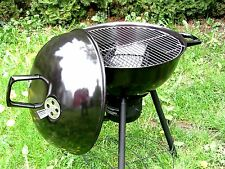 XL Kugelgrill mit Deckel Emaille Thermometer Holzkohlegrill Ø 57,5 cm B-Ware