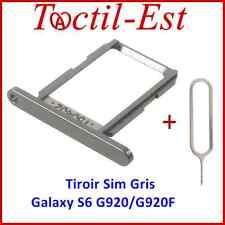 Tiroir Lecteur Carte SIM pour Samsung Galaxy S6 SM-G920/G920F Gris + Ejecteur
