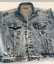 Mens Levi's Denim Jacket XL Acid Wash Jean Jacket VINTAGE