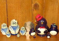 Dalla russia CON PICCOLE IMPERFEZIONI piccolo PINGUINO 5 nidificazione bambole