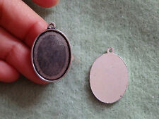 10 small oval setting blanks picture photo frame pendant tibetan silver antique