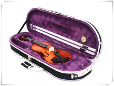 New 310E/820BPL 4/4 Solid Wood/Ebony Violin+Case+Bow+Rosin+Free String Set
