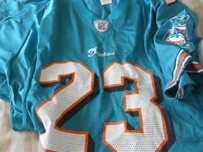 "-- Miami Dolphins #23  Brown""  green   jersey  adult XL"
