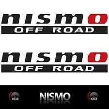 "(2) NISMO OFF ROAD Die Cut Decal Stickers MATTE BLACK and RED 12"" 4X4 truckbed"