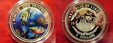 Liberia 1996 Large Silver Proof Color $5 Tropical Fish