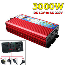 3000W DC 12V to AC 220V Car Power Inverter Modified Sine Wave Converter Adapter