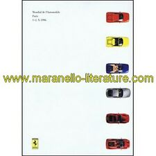 (1491) Catalogue 1996 Ferrari Mondial de l'automobile 1996 Paris 1121/96 (1.5M/9