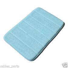 "New 32""x20'' Non-Slip Back Rug Soft Bathroom Carpet Memory Foam Bath Mat blue"