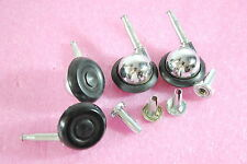 Vintage Set Furniture Chair Swivel Dolly Cart Ball Round Casters w/Sockets *NOS*