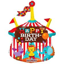 "Birthday Party Decoration Circus Design Happy Birthday Air Fill 14"" Foil Balloon"