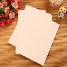 20 Sheets Thick DIY Blank Post Card Kraft White Black Double-sided Sketch #UK