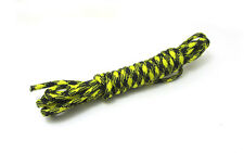 Outdoor  Hiking Survival  Paracord Rope 7 Core Strand 2.4M + buckle Black Yellow