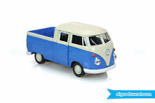 1962 Volkswagen Classic T1 Double Cabin Pick Up 1:36 scale Diecast Blue model VW