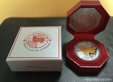 2015 Singapore Mint $10 Silver Piedfort Proof Coin Year of Goat - (999 Silver)