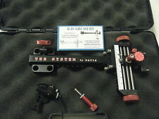 "4"" DAVIS TARGET SIGHT-black with red knobs"