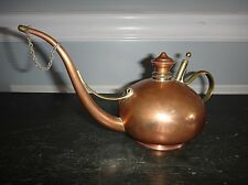 Antique Copper Oil Lamp Filler by S Sternau & Co Pump Drip Oiler Can Aladdin