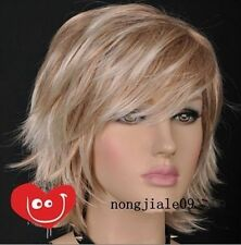 CHWJ4540 charming New popular short blonde mix health Wig  hair wigs for women