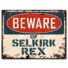 Pp1577 Beware of Selkirk Rex Plate Rustic Chic Sign Home Store Decor Gift