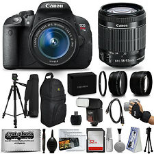 Canon EOS Rebel T5i 18.0 MP CMOS Digital Camera + EF-S 18-55mm IS STM Lens + Kit