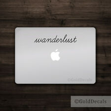 Wanderlust - Vinyl Decal Mac Apple Logo Laptop Sticker Macbook Decal Travel