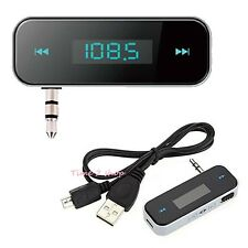 FM RADIO TRANSMITTER CAR WIRELESS MP3 HANDS FREE FOR MOBILE IPHONE IPOD SAMSUNG