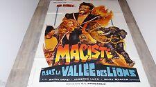 MACISTE DANS LA VALLEE DES LIONS   !  affiche cinema 1962