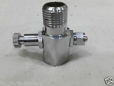 """Stainless Steel Water Inlet Valve/Connector For RO Purifier Filter 1/4"""" Pipe"""